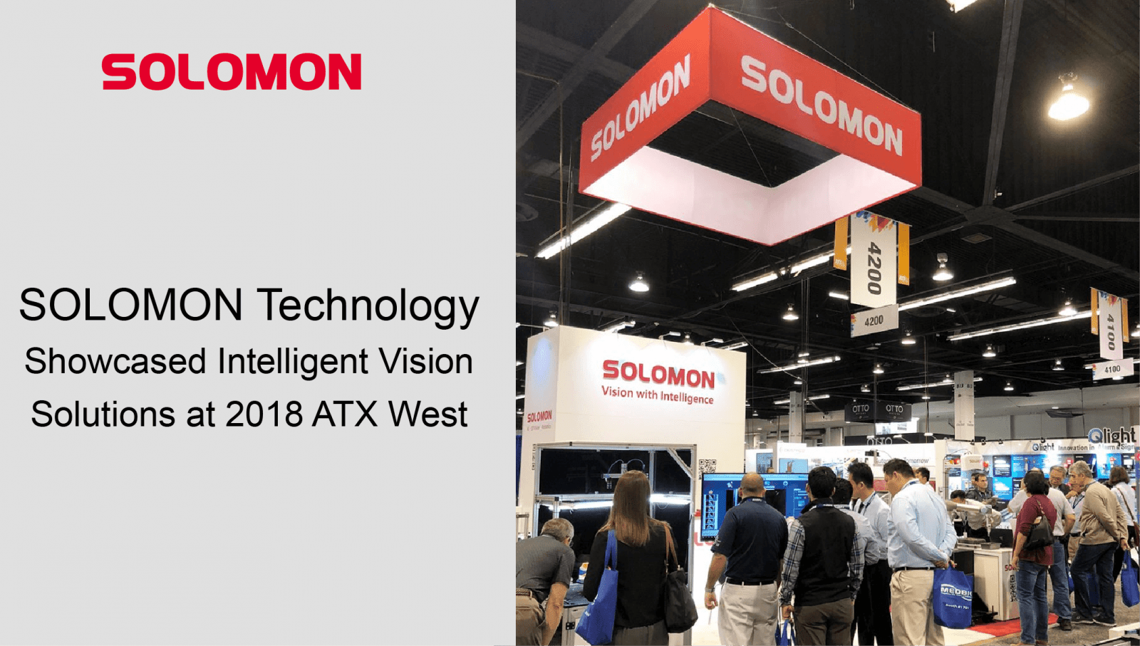 SOLOMON Technology Showcased Intelligent Vision Solutions at 2018 ATX West