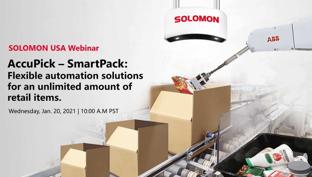 Solomon USA webinar - Flexible automation solutions for an unlimited amount of retail items.