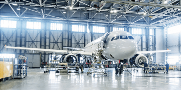 Picking of complex objects used in the aerospace industry
